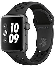 Apple Watch Nike+ Series 3 GPS, 38mm Space Gray Aluminum Case with Anthracite/Black Nike Sport Band