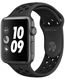 Apple Watch Nike+ Series 3 GPS, 42mm Space Gray Aluminum Case with Anthracite/Black Nike Sport Band
