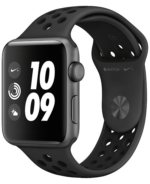 Apple Watch Series 3 AppleWatch Nike+ Series 3 GPS, 42mm Space Gray Aluminum Case with Anthracite/Black Nike Sport Band