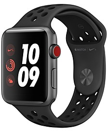AppleWatch Nike+ Series3 GPS + Cellular, 42mm Space Gray Aluminum Case with Anthracite/Black Nike Sport Band