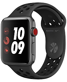 Apple Watch Nike+ Series 3 GPS + Cellular, 42mm Space Gray Aluminum Case with Anthracite/Black Nike Sport Band
