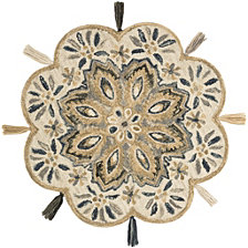 Loloi Remy RU-12 Ivory/Sand 3' Round Area Rug