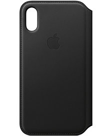 Apple iPhone XS Leather Folio Case