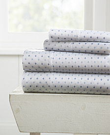 Home Collection Premium Ultra Soft Lily Pattern 4 Piece Bed Sheet Set