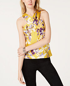 I.N.C. Printed Floral Halter Top, Created for Macy's