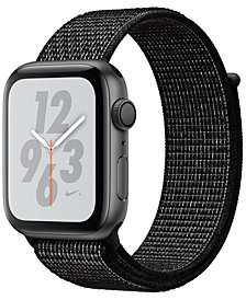 Apple Watch Nike+ Series 4 GPS, 44mm Space Gray Aluminum Case with Black Nike Sport Loop