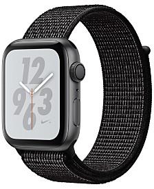AppleWatch Nike+ Series4 GPS, 44mm Space Gray Aluminum Case with Black Nike Sport Loop
