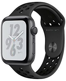 Apple Watch Nike+ Series 4 GPS, 44mm Space Gray Aluminum Case with Anthracite Black Nike Sport Band