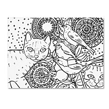 Oxana Ziaka 'Mandala Cats 2' Canvas Art Collection