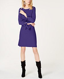 I.N.C. Grommet Bell-Sleeve Sweater Dress, Created for Macy's