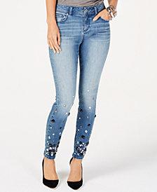 I.N.C. Rhinestone-Embellished Skinny Jeans, Created for Macy's