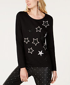 I.N.C. Rhinestone-Star Sweatshirt, Created for Macy's