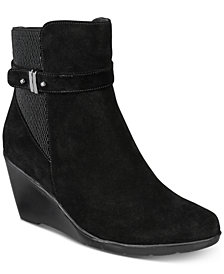 Aqua College Lisa Waterproof Wedge Booties, Created for Macy's