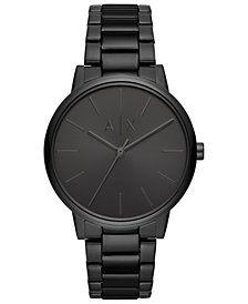 A|X Armani Exchange Men's Cayde Black Stainless Steel Bracelet Watch 42mm