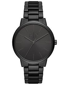 A|X Armani Exchange Men's Cayde Black Stainless Steel Bracelet Watch 42mm
