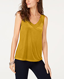 I.N.C. Velvet Sheer-Inset Top, Created for Macy's