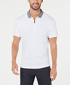Alfani Men's Interlock Quarter-Zip Polo, Created for Macy's