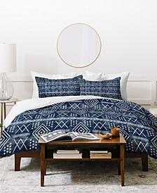 Little Arrow Design Co Vintage Moroccan On Blue Duvet Set