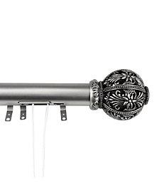 "Lacey Decorative Traverse Rod w/ Sliders 84""-156"""