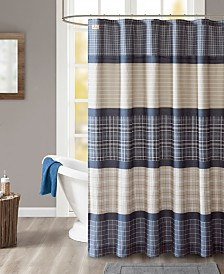 "Woolrich Flagship 72"" x 72"" Cotton Printed Plaid Shower Curtain"