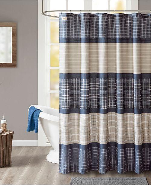 JLA Home Woolrich Flagship 72 X Cotton Printed Plaid Shower Curtain