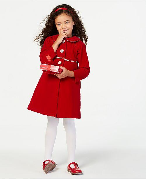 34f76a032 Blueberi Boulevard Little Girls 2-Pc. Plaid Dress   Coat Set   Reviews ...