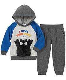 Kids Headquarters Baby Boys 2-Pc. Bear Hugs Fleece Hoodie & Jogger Pants Set