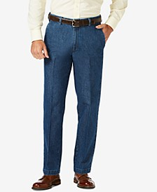Men's Stretch Denim Classic-Fit Flat Front Pants