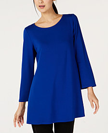 Eileen Fisher Scoop-Neck Wide-Sleeve Tunic, Regular & Petite