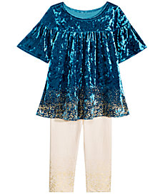 First Impressions Baby Girls 2-Pc. Crushed Velvet Tunic & Leggings Set, Created for Macy's
