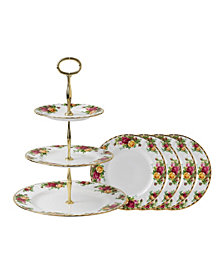 Royal Albert Cake Plate Set, Created for Macy's