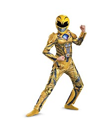 Power Rangers Yellow Ranger Deluxe Little and Big Boys Costume