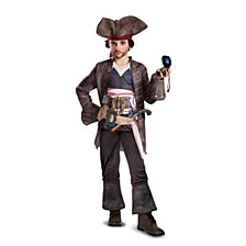 Pirates of The Caribbean 5 Captain Jack Deluxe Big Boys Costume
