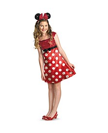 Disney Mickey Mouse Clubhouse Red Minnie Mouse Little and Big Girls Costume