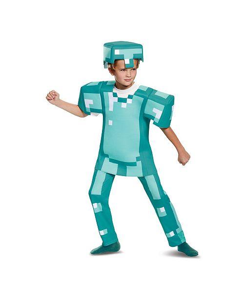 BuySeasons Minecraft Armor Deluxe Big Boys Costume