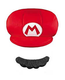 Super Mario Brothers Mario Little and Big Boys Hat and Mustache Accessory