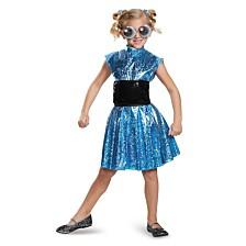 Powerpuff Little Girls Bubbles Deluxe Little Girls Costume