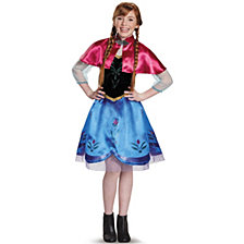 Frozen Anna Traveling Gown Big Girls Costume