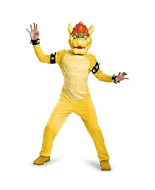 Super Mario Bros Bowser Deluxe Little and Big Boys Costume