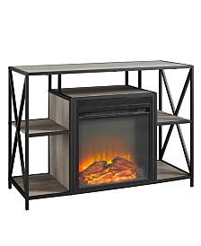 40 inch X Frame Open Shelf Fireplace