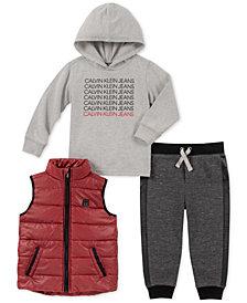 Calvin Klein Baby Boys 3-Pc. Vest, Hoodie & Jogger Pants Set