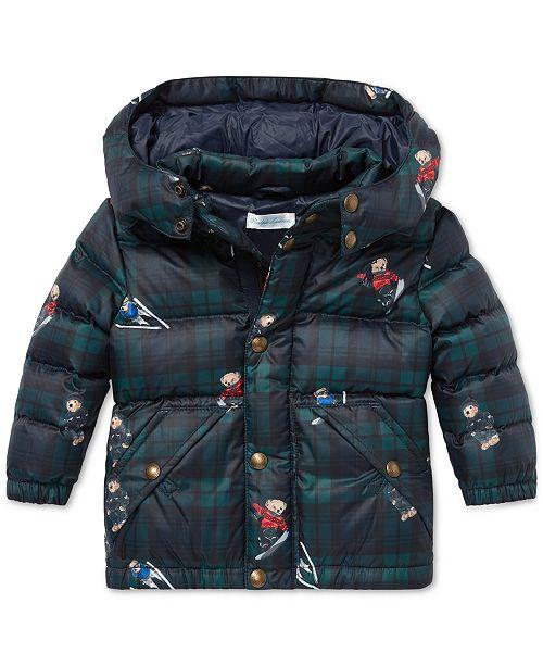 c8536a7fcfb45 Polo Ralph Lauren Baby Boys Polo Bear Down Jacket   Reviews - Coats ...