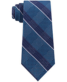 Michael Kors Men's Split Square Plaid Silk Tie