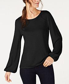 I.N.C. Balloon-Sleeve Sweatshirt, Created for Macy's