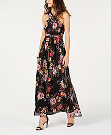 I.N.C. Floral-Print Pleated Dress, Created for Macy's