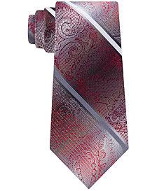 Van Heusen Men's Harvey Paisley Stripe Tie