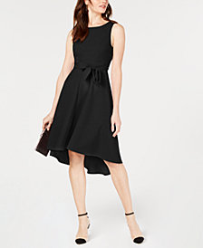 I.N.C. Seamed Bodice High-Low Dress, Created for Macy's