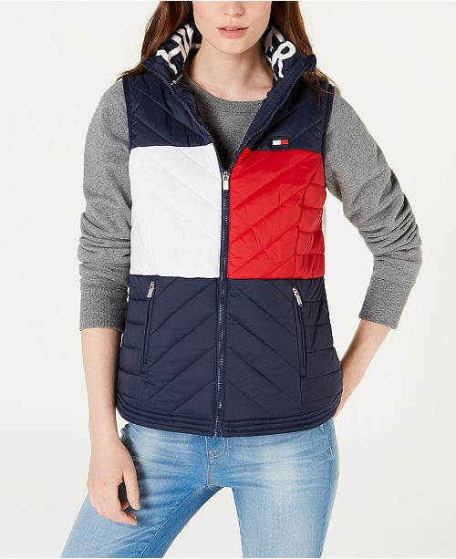 19a5005066a2f Tommy Hilfiger Quilted Vest   Reviews - Jackets   Blazers - Women ...