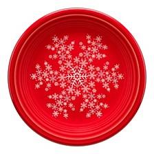 """Scarlet 7 1/4"""" Snowflake Salad Plate"""