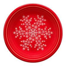 Fiesta Scarlet Snowflake Salad Plate